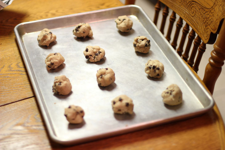 Pillsbury Gluten Free Cookie Dough Balls on Pan