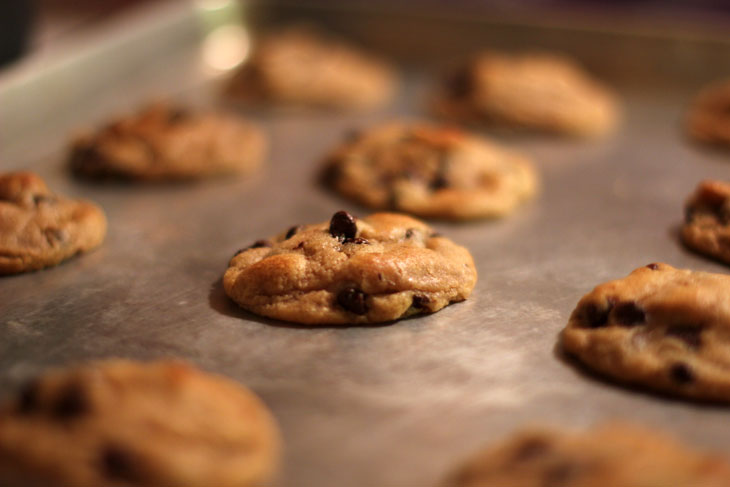 Freshly baked Pillsbury Gluten Free Cookie Dough