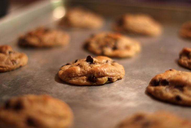 Freshly baked Pillsbury Gluten Free Cookie Dough