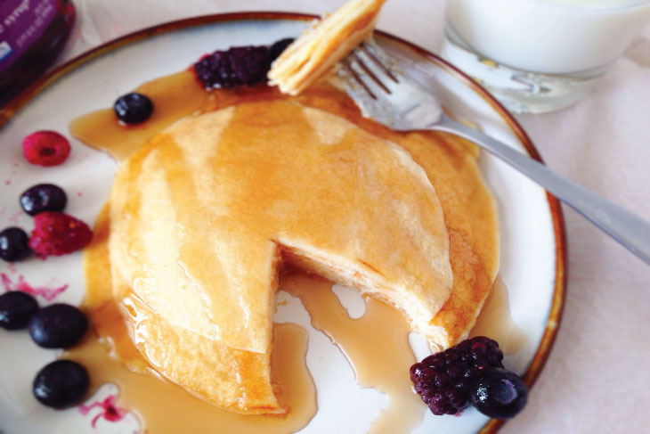 Gluten Free Cottage Cheese Pancakes with berries