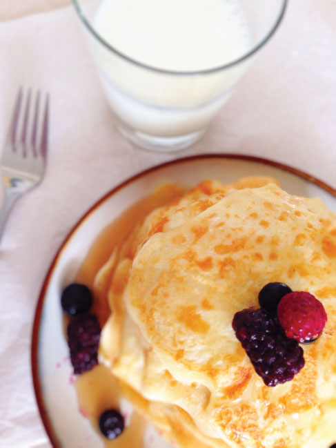 Gluten Free Cottage Cheese Pancakes with Milk