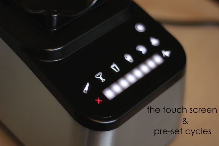 Blendtec Designer Series touch screen