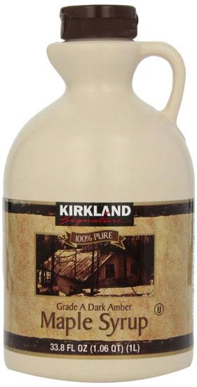 Kirkland 100% pure maple syrup grade A
