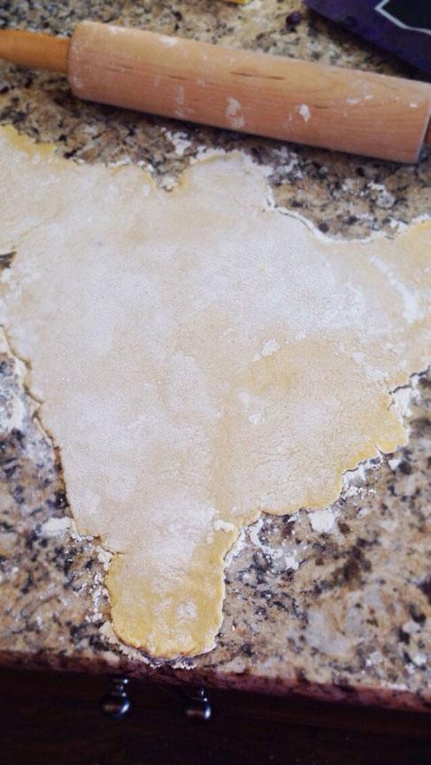 flattened gluten free dough