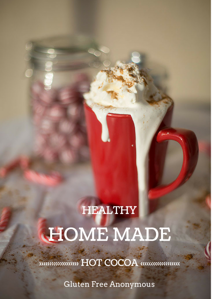 Healthy Home Made Hot Cocoa! So good, made with natural ingredients, #dairyfree and #glutenfree