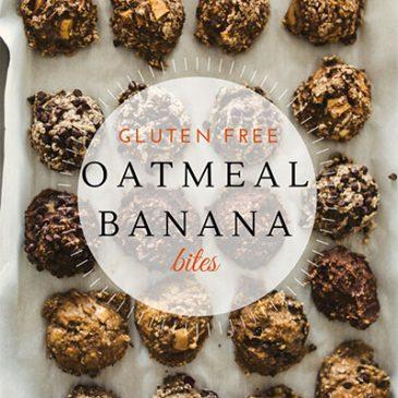 Gluten Free Oatmeal Banana Bites